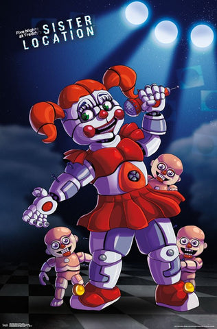 Five Nights At Freddy's Sister Location Movie Poster RP15001 22x34 UPC882663050017 FNAF