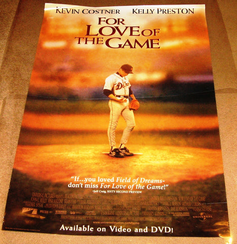 For The Love of the Game 27x40 Used Kevin Costner Kelly Preston