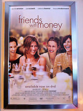 Friends with Money Movie Poster 27x40 Used Michael Lawson, Maulik Pancholy, Jennifer Aniston, Romy Rosemont, Jake Cherry, Cass Asher, Marin Hinkle, Wendy Phillips, Jason Isaacs, Kristin Minter, Johnny Chavez, Alejandra Flores, Ileen Getz