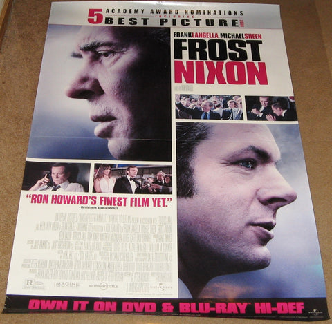 Frost Nixon Movie Poster 27x40 Used Keith MacKechnie, Eric Sevareid, Jim Meskimen, Michael Patrick Breen, Wil Albert, Toby Jones, James Ritz, Clint Howard, Steve Kehela, Gerald Ford, Marc McClure, David Kelsey