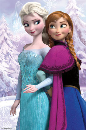 Frozen - Anna & Snow Queen Elsa Movie Poster 22x34 RP6039 UPC017681060391 Disney Variation #2 Rare