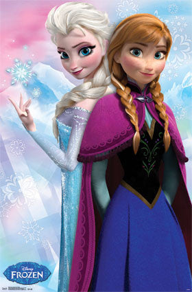 Frozen - Anna & Snow Queen Elsa Movie Poster 22x34 RP6039 UPC017681060391 Disney