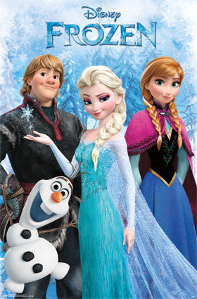Frozen – Group Movie Poster 22x34 RP13539  UPC882663035397 Disney