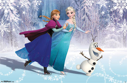 Frozen - Ice Skating Movie Poster 22x34 RP13636 UPC882663036363 Disney
