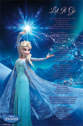 Frozen - Let It Go Movie Poster 22x34 RP14127 UPC882663041275 Disney