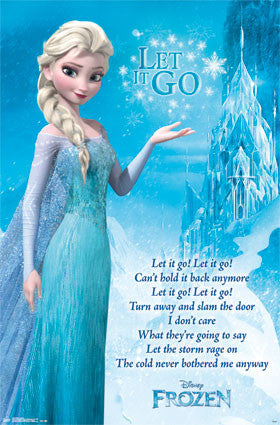 Frozen - Lyrics Movie Poster 22x34 RP14128 UPC882663041282 Disney