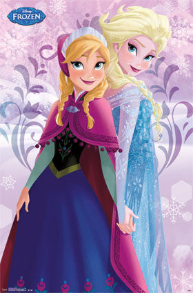 Frozen - Sisters Movie Poster 22x34 RP13574 UPC882663035748 Disney