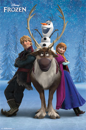 Frozen - Team Movie Poster 22x34 RP13537 Disney UPC882663035373