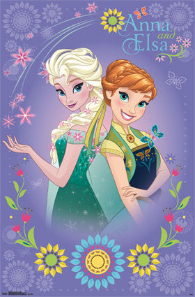 Frozen Fever - Anna & Elsa Movie Poster 22x34 RP13863 UPC882663038633 Disney