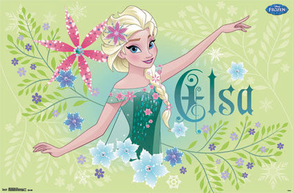Frozen Fever - Elsa Movie Poster 22x34 RP13864 Disney UPC882663038640
