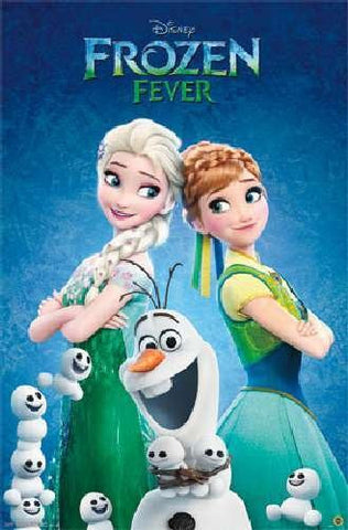 Frozen Fever - One Sheet Movie Poster 22x34 RP14035 UPC882663040353 Disney