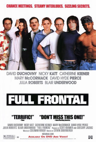 Full Frontal 2002 Movie Poster 27x40 Used David Fincher, Dawn Suggs, David Hyde Pierce, Brandon Keener, Andrew Connolly, Nancy Lenehan, Tracy Vilar, Nicky Katt, Laurent Schwaar, David Duchovny, Cynthia Gibb, Blair Underwood, Chris DeRose, Julia Roberts