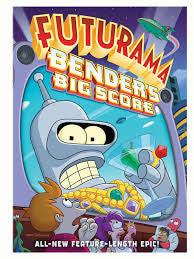 Futurama Bender's Big Score Movie Poster 27x40 Used