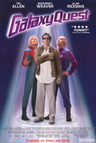 Galaxy Quest Movie Poster 27x40 Used Tim Allen Alan Rickman Sigourney Weaver