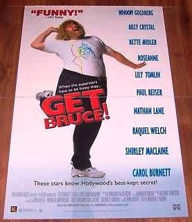Get Bruce! Movie Poster 27x40 Used Whoopi Goldberg, Robin Williams, Lily Tomlin, Raquel Welch, Shirley MacLaine,Steven Seagal, Michael Douglas