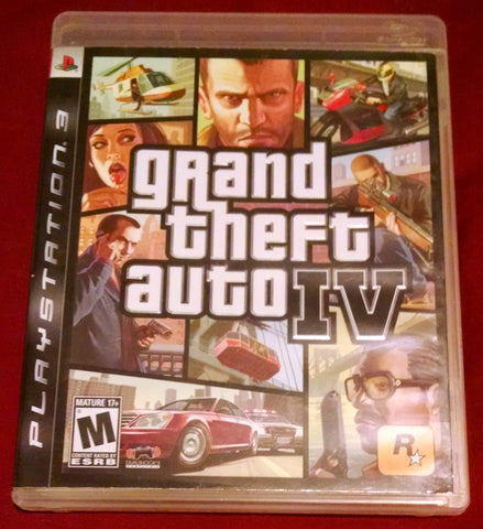 Grand Theft Auto IV (Sony PlayStation 3, 2008) Video Game UPC: 710425370113