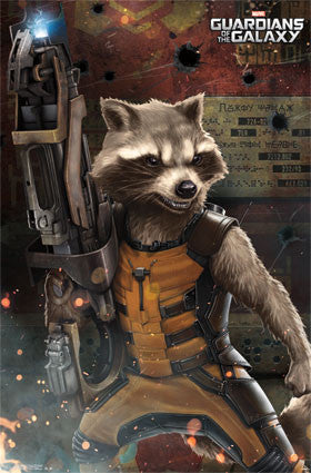 Guardians Of The Galaxy - Rocket Raccoon Movie Poster 22x34 RP13042 UPC882663030422