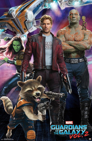 Guardians of the Galaxy 2 - Group Movie Poster 22x34 RP15097 UPC882663050970 Marvel