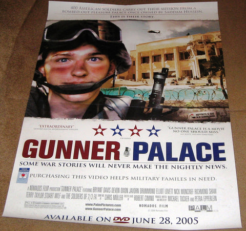 Gunner Palace 2004 Movie Poster 27x40 Used Terry Taylor