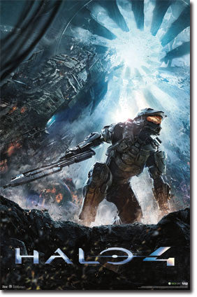 Halo 4 – Key Art Game Poster 22x34 RP5336 UPC:017681053362