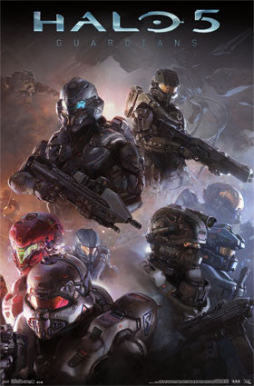 Halo 5 Troops Armor Game Poster 22x34 Rp13609