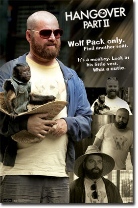 Hangover 2 – Alan and Monkey Movie Poster 22x34 RP1506