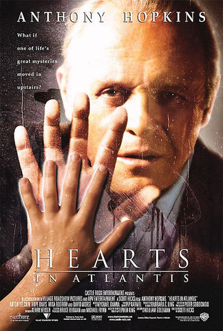 Hearts in Atlantis Movie Poster 27x40 Used, Stephen King, Anthony Hopkins, Alan Tudyk, John Johnson, Terry Beaver, Wes Johnson, Terry Jernigan, Will Rothhaar, Hope Davis, Deirdre O'Connell, Mika Boorem, Adam LeFevre, Bourke Floyd, Steve Little, Tom Bower