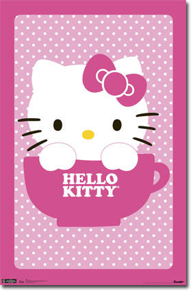 Hello Kitty – Teacup Poster 22x34 RP5462 UPC017681054628