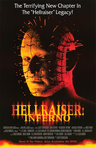 Hellraiser: Inferno Movie Poster 27x40 Used
