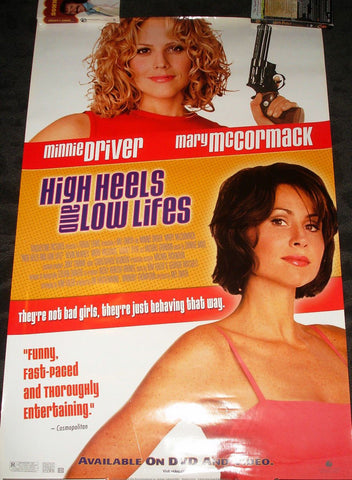 High Heels and Low Life's Movie Poster 27x40 Used Darren Tighe, Michael Gambon, Michael Attwell, Paul Brown, Minnie Driver, Liam Noble, Danny Dyer, Stewart Wright, Ranjit Krishnamma, Tom Ellis, Mary McCormack, Ben Walden