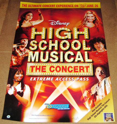 High School Musical the Concert Extreme Access Pass Movie Poster (2007) 27x40 Disney Used Corbin Bleu, Monique Coleman, Lucas Grabeel