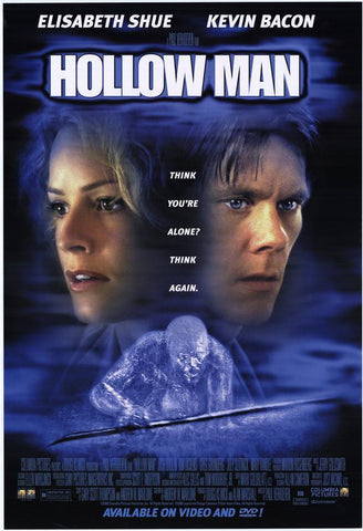 Hollow Man 2000 Movie Poster 27x40 Used Kevin Bacon