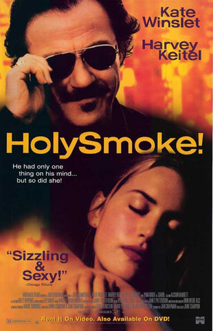 Holy Smoke! Movie Poster 27x40 Used Dhritiman Chatterjee, Les Dayman, Tim Robertson, Robert Lee, Dan Wyllie, Paul Goddard, Julie Hamilton, Jeff Silverman, Sophie Lee, John Samaha, Kerry Walker, Geneviève Lemon, Kate Winslet, Charles Manson, Harvey Keitel