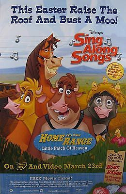 Home on the Range Little Patch of Heaven Sing Along Songs Movie Poster 27x40 Used Disney