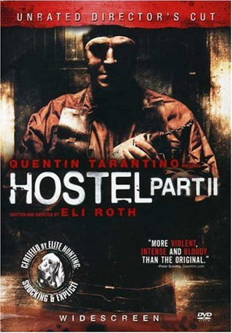 Hostel Part 2 Unrated Directors Cut Movie DVD 2007 Widescreen UPC04339619190