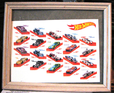 New 2019 Hot Wheels 50th Anniversary USPS $.55 Forever Stamps Sheet of 20