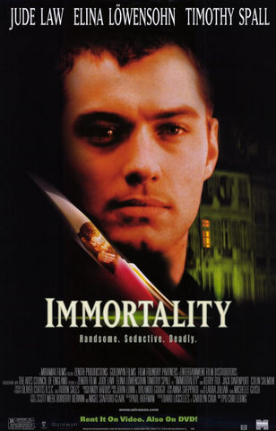 Immortality 1998 Movie Poster 27x40 Used Jude Law, Elina Lowensohn, Timothy Spall