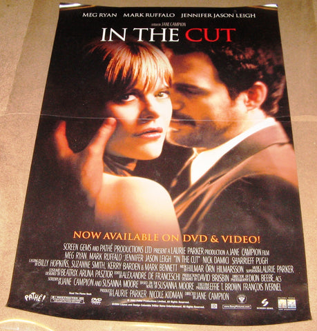 In The Cut Movie Poster 27x40 Used Kevin Bacon, Nick Damici, Theo Kogan, Vinny Vella, Mark Ruffalo, Michael Ienna, Angela Frye, Michelle DiBenedetti, Meg Ryan, Sharrieff Pugh, Jennifer Jason Leigh, Tim House, Julius LeFlore