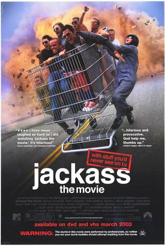 Jackass The Movie 2002 Movie Poster 27x40 Used