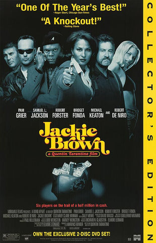 Jackie Brown 1997 Movie Poster 27x40 Used Collector's Edition Chris Tucker, Robert De Niro, Samuel L Jackson, Quentin Tarantino