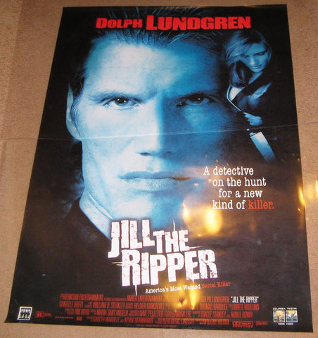 Jill The Ripper Movie Poster 27x40 Used Dolph Lundgren