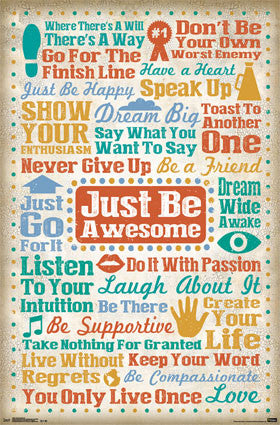 Just Be Awesome Poster 22x34 RP13540 UPC882663035403