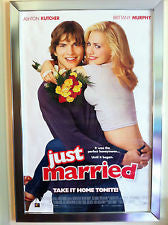 Just Married Movie Poster 27x40 Used Brittany Murphy, Raymond J Barry, David Rasche, Thad Luckinbill, Toshi Toda, Clement von Franckenstein, Summer Moore, Christian Kane, Monet Mazur, George Gaynes
