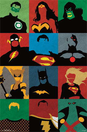 Justice League - Minimalist Movie Poster 22x34 RP13027 UPC882663030279