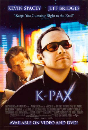 K-Pax Movie Poster 27x40 Used Kevin Spacey Jeff Bridges