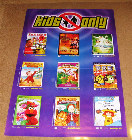 Kids Only April & May 2007 Movie Poster 24x36 Used Curious George, Pez