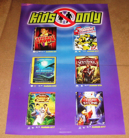 Kids Only June 2008 Movie Poster 24x36 Used Jungle Book 2, Spiderwick Chronicles
