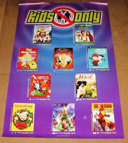 Kids Only October 2008 Movie Poster 24x36 Used Mist, Charlie Brown