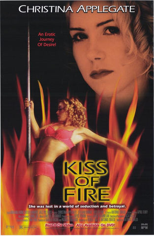 Kiss of Fire Movie Poster 27x40 Used Christina Applegate