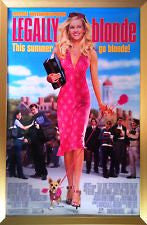 Legally Blonde Movie Poster 27x40 Used Ali Larter, Reese Witherspoon, Jessica Cauffiel, Natalie Barish, Michael B Silver, Luke Wilson, Francesca P Roberts, Holland Taylor, Kevin Cooney, Lisa K Wyatt, John Kapelos